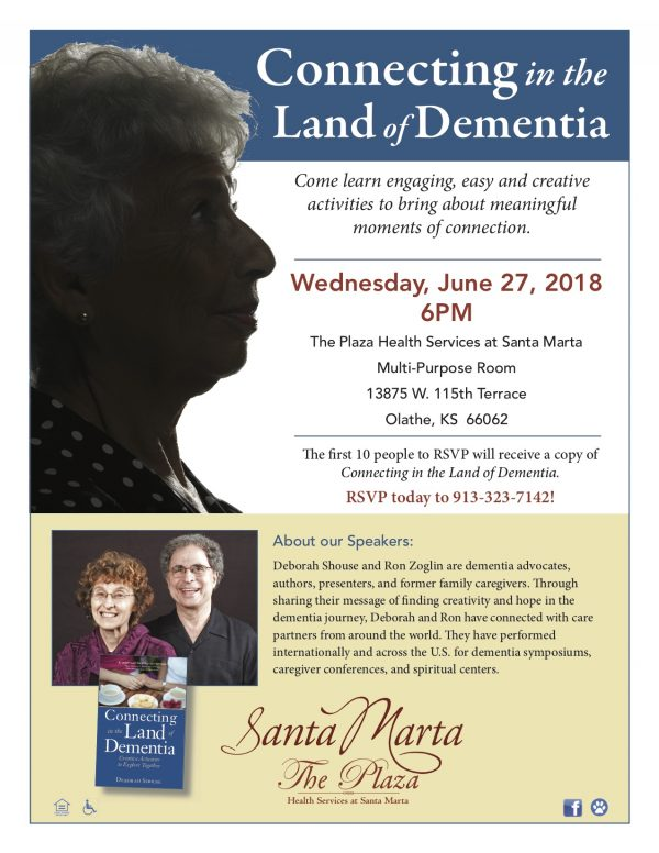 Connecting in the Land of Dementia event Santa Marta